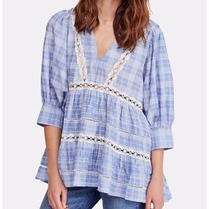 NWT Free People cotton lace babydoll tunic Top S